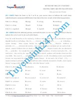 một đề thi thử đại học môn tiếng anh của tuyển sinh 247