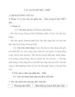 CÁC DẠNG ĐỀ ĐỌC HIỂU MÔN NGỮ VĂN LỚP 12