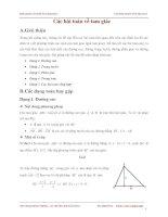 Chuyên đề các bài toán về tam giác