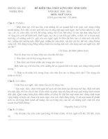 Đề thi và đáp án HSG ngữ văn 6