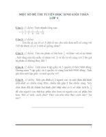 MỘT SỐ ĐỀ THI TUYỂN HỌC SINH GIỎI TOÁN LỚP 4 -CÓ ĐÁP ÁN
