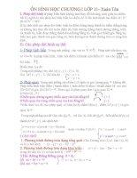 Ôn tập Hình học 11. chương 1