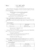 lí thuyết và bài tập về câu điều kiện