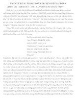 Phân tích thơ và truyện lớp 9