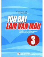 100 bài văn mẫu lớp 3 (NXB dai hoc quoc gia 2007)   thai quang vinh, 100 trang