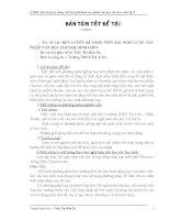 Rèn luyện kĩ năng viết bài nghị luận tác phẩm văn học cho HS lớp 9