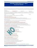 Tổng hợp lí thuyết ôn thi môn Vật lí (Phần 2)