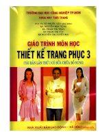 giáo trình thiết kế trang phục 3 - Võ Phước Tấn ĐH CN TPHCM phần 1