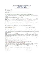 Đề và đáp án môn vật lý luyện thi đại học cao đẳng tham khảo năm 2009