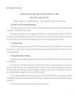 HƯỚNG DẪN THỰC HIỆN ĐIỀU CHỈNH NỘI DUNG DẠY HỌC MÔN CÔNG NGHỆ CẤP THPT