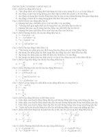 Bài tập trắc nghiệp tham khảo luyện thi đại học cao đẳng môn vật lý (17)