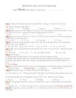 Bài tập trắc nghiệp tham khảo luyện thi đại học cao đẳng môn vật lý (11)