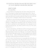 sáng kiến kinh nghiệm GÂY HỨNG THÚ CHO HỌC SINH LỚP 2 HỌC PHÂN MÔN LUYỆN TỪ VÀ CÂU THÔNG QUA PHƯƠNG PHÁP TRÒ CHƠI