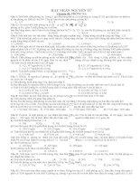 Bài tập trắc nghiệm hạt nhân nguyên tử   chuyên đề phóng xạ