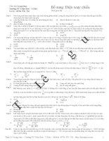 150 câu trắc nghiệm điện xoay chiều hay và khó có đáp án