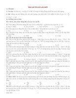 Bài tập trắc nghiệm về con lắc đơn