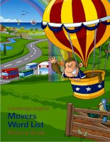 movers word list picture book