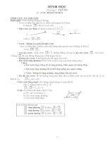 lý thuyết và bài tập hình học lớp 10 đầy đủ