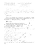 Tổng hợp một số đề thi học sinh giỏi Vật lý 9(có đáp án)