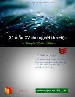 21 mẫu CV cho người tìm việc
