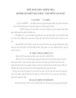 SKKN ĐỔI MỚI VIỆC KIỂM TRA ĐÁNH GIÁ KẾT QUẢ HỌC TẬP MÔN LỊCH SỬ