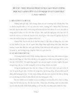 Sáng Kiến Kinh Nghiệm MỘT SỐ GIẢI PHÁP NÂNG CAO CHẤT LƯỢNG ĐỘI NGŨ GIÁO VIÊN VÀ CÁN BỘ QUẢN LÝ GIÁO DỤC