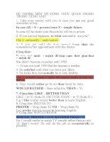 MỘT số cấu TRÚC TIẾNG ANH 12