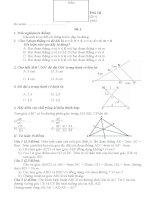 TỔNG hợp các đề KIỂM TRA TOÁN lớp 8