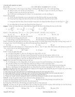 Bài tập trắc nghiệp tham khảo luyện thi đại học cao đẳng môn vật lý (10)