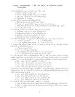Một số câu hỏi trắc nghiệm môn Sinh học lớp 12