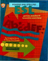 Esl Games, puzzles and inventive exercises