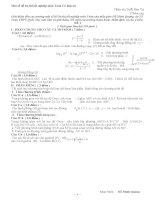 Một số đề ôn thi tốt nghiệp môn toán có đáp án
