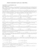 Bài tập trắc nghiệm Vật lý lớp 12 theo các chương