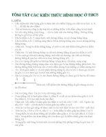 Tóm tắt kiến thức hình học THCS từ lớp 6 đến lớp 9