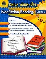 Daily Warm Ups Non Fiction Reading Grade 2