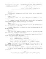 ĐỀ THI HỌC SINH GIỎI LỚP 9 CẤP TRƯỜNG môn sinh hay