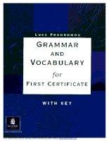 Grammar and Vocabulary for FCE (Longman)