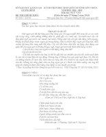 Đề thi học sinh giỏi môn ngữ Văn lớp 9 tỉnh quảng bình năm học 2012 - 2013(có đáp án)