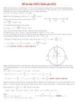 Một số đề Vật lý 12 ôn thi đại học(có đáp án)