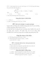 TUYỂN tập bài tập hóa lớp 9 NÂNG CAO có GIẢI CHI TIẾT