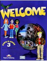 Welcome 3 Pupil book