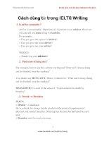 Cách dùng từ trong IELTS writing rất dễhiểu