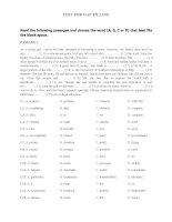 Bài tập điền từ môn tiếng anh lớp 11