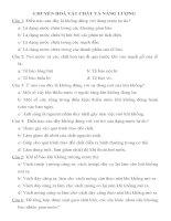 BỘ ĐỀ TRẮC NGHIỆM SINH HỌC LỚP 11- CÓ ĐÁP ÁN