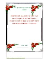 CHUYÊN ĐỀ GIÁO DỤC  ĐÀO TẠO  TUYỂN TẬP CÁC ĐỀ KHẢO SÁT,  ÔN LUYỆN CUỐI HỌC KÌ II MÔN TOÁN  LỚP 3 THEO THÔNG TƯ 302014