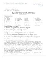 10 Đề tham khảo ôn thi tốt nghiệp môn Tiếng Anh có đáp án Bộ 3