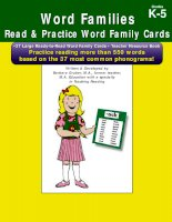 words families read and practice word family cards grades k-5