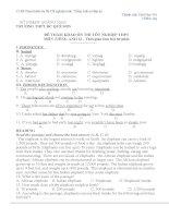 15 Đề Tham khảo ôn thi Tốt nghiệp môn Tiếng Anh có đáp án