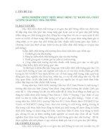 skkn  KINH NGHIỆM THỰC HIỆN HOẠT ĐỘNG tự ĐÁNH GIÁ CHẤT LƯỢNG GIÁO dục NHÀ TRƯỜNG