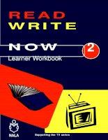 Read Write Now Learner Workbook 2